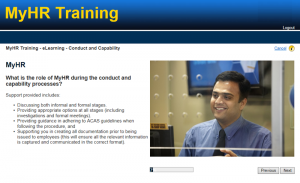 HR Learning Solutions screenshot